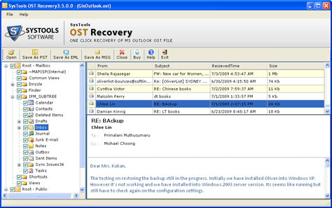 Repair OST 2003 Tool to convert OST to PST